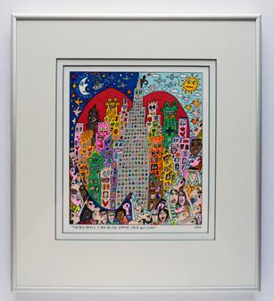 Bild von James Rizzi, Titel: The big apple is big on Empire State